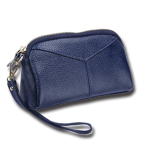 Meaeo Monedero De Cuero Paquete De Cambios Paquetes De Cartas Carteras Moda Nuevas Ofertas Azul