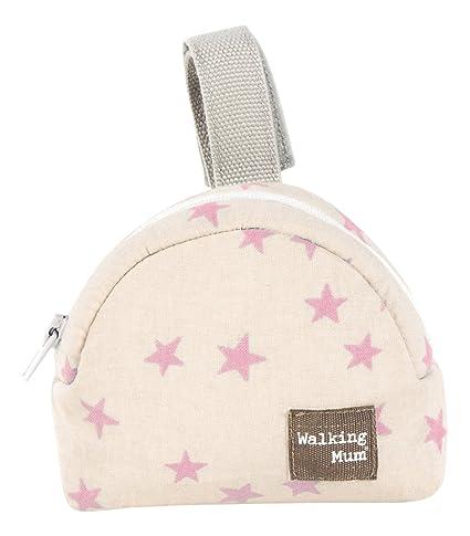 Walking Mum Estrella - Funda para chupete, color beige/rosa