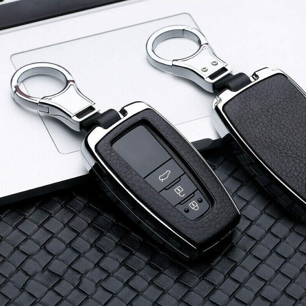 Similicuir Ajboy /Étui en cuir pour cl/é de voiture avec porte-cl/és pour Toyota Camry CHR RAV4 Taille unique alliage de zinc.