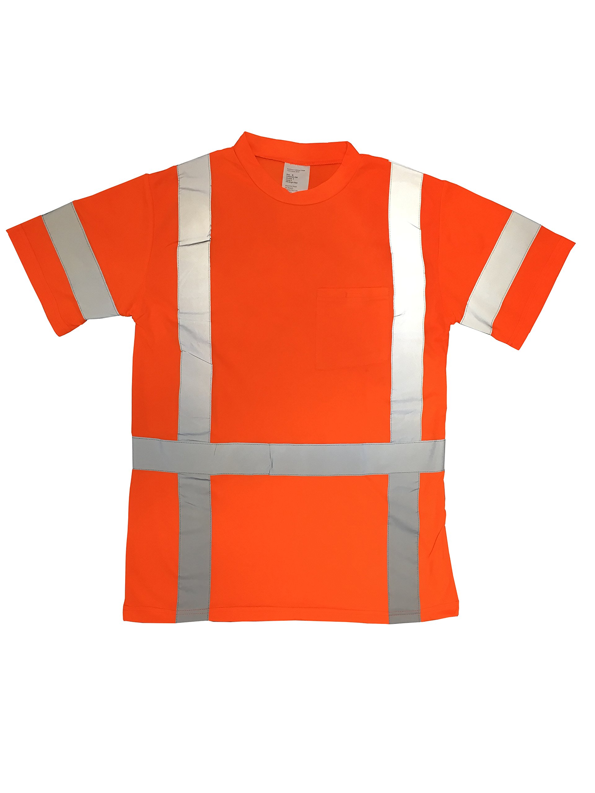 ANSI Class 3 High Visibility Reflective Safety T-Shirt … (Large, Orange)