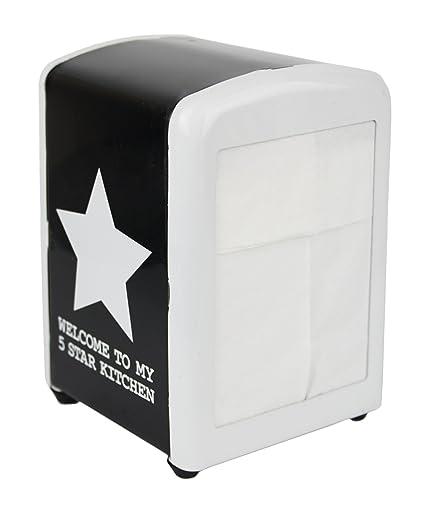Servilleta dispensador Servilletas Caja Metal/hxbxt 14 x 11 x 10 cm/Estrella