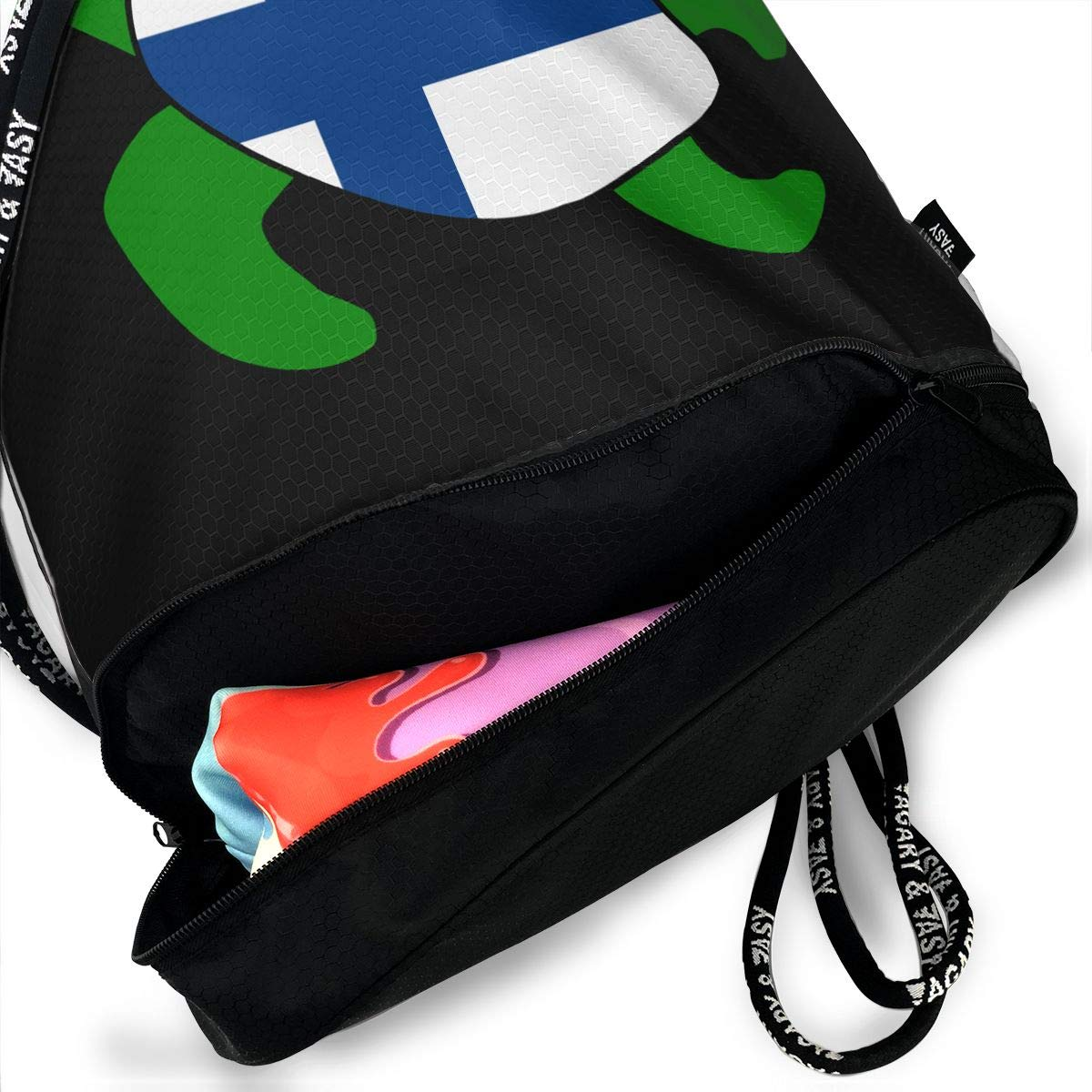 Sea Turtle Finland Flag Men And Women Drawstring Backpack Beam Mouth Sport Bag Rucksack Shoulder Bags