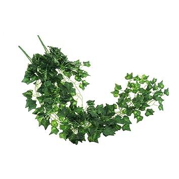 2x Kunstliche Pflanzen Kunstliche Efeu Garland Laub Grune Blatter