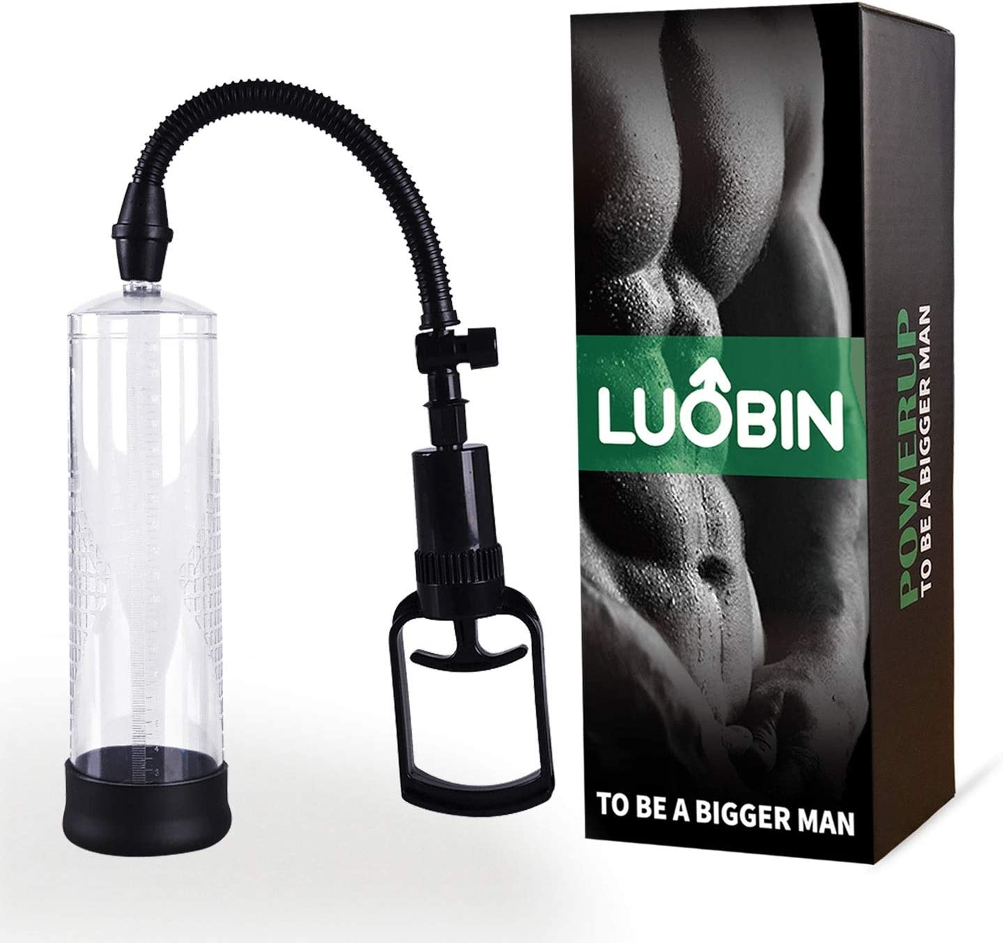 Bfucky 9.4 Inch Bigger Growth Power Vacuum Male Enhancement Enlarger Pump for Men + 3 Silicone Black Rings Point Best Choice for Shopping Season Bfucky