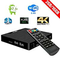 Android TV Box - W95 Newest Android 7.1 2G DDR3 Ram 16G eMMC Rom Amlogic A53 Quad-core Processor 2.4G WiFi Internet Smart Set-Top Box with HDMI 2.0 4K2K 1080P H.265