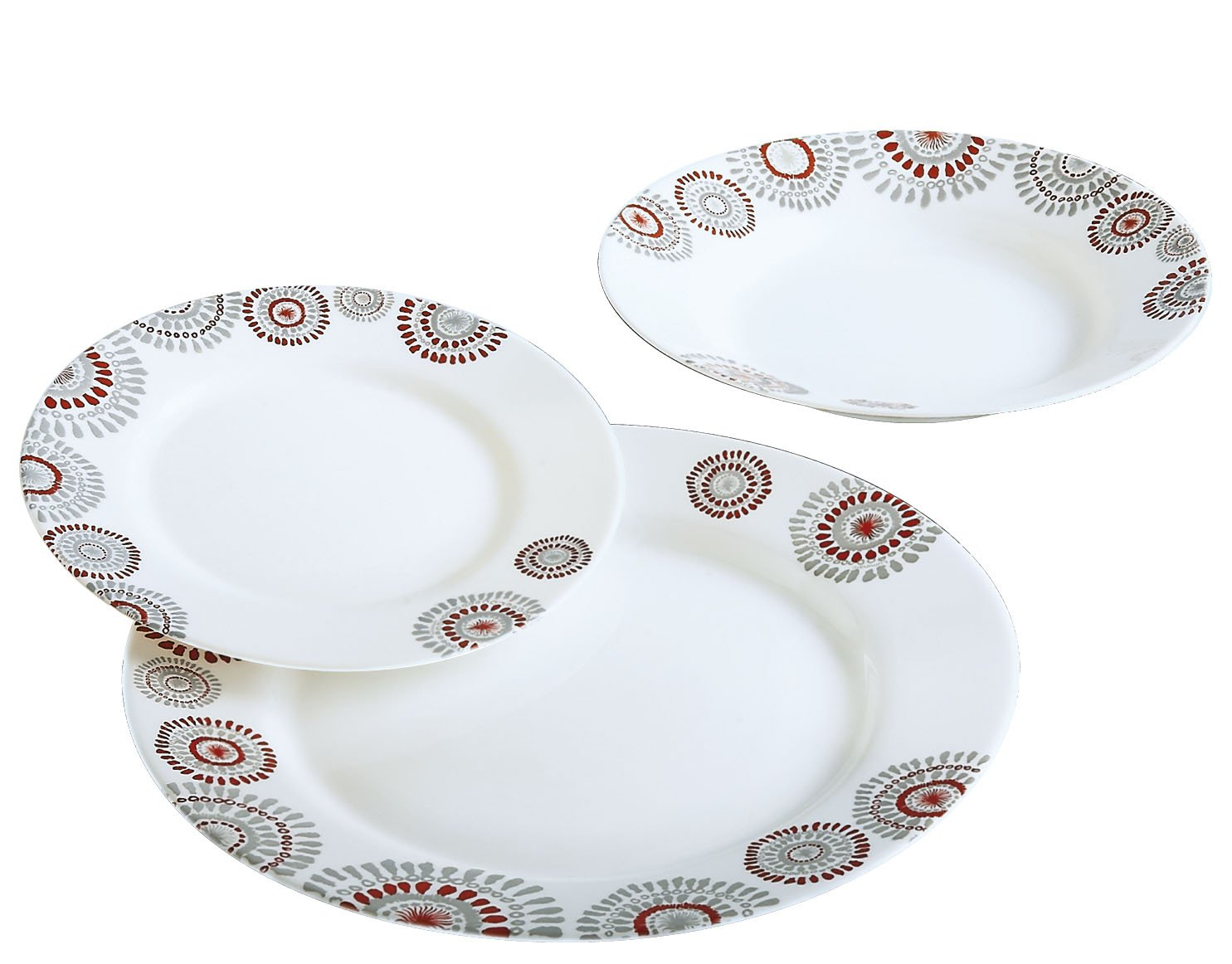 e8d10332efa5fc Luminarc comédie Red - Service de table de 18 pièces  Amazon.fr  Cuisine    Maison