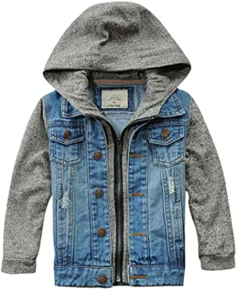 Banibear Boys' Denim Jacket Outerwear, 12M-12 Years