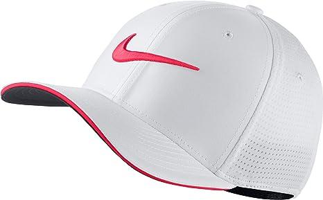 Nike Classic 99 Gorra de Golf de Malla 2017 Blanco/Sirena Rojo ...