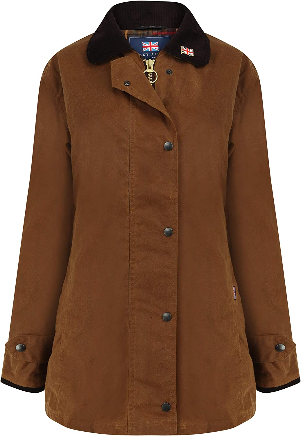Nicky Adams Ladies Waterproof Waxed Cotton Equestrian Wax Jacket with Riding Vent