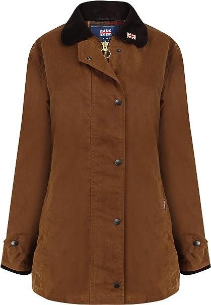 Nicky Adams Countrywear - Chaqueta Impermeable de algodón Encerado para Mujer con ventilación de equitación para equitación: Amazon.es: Ropa y accesorios