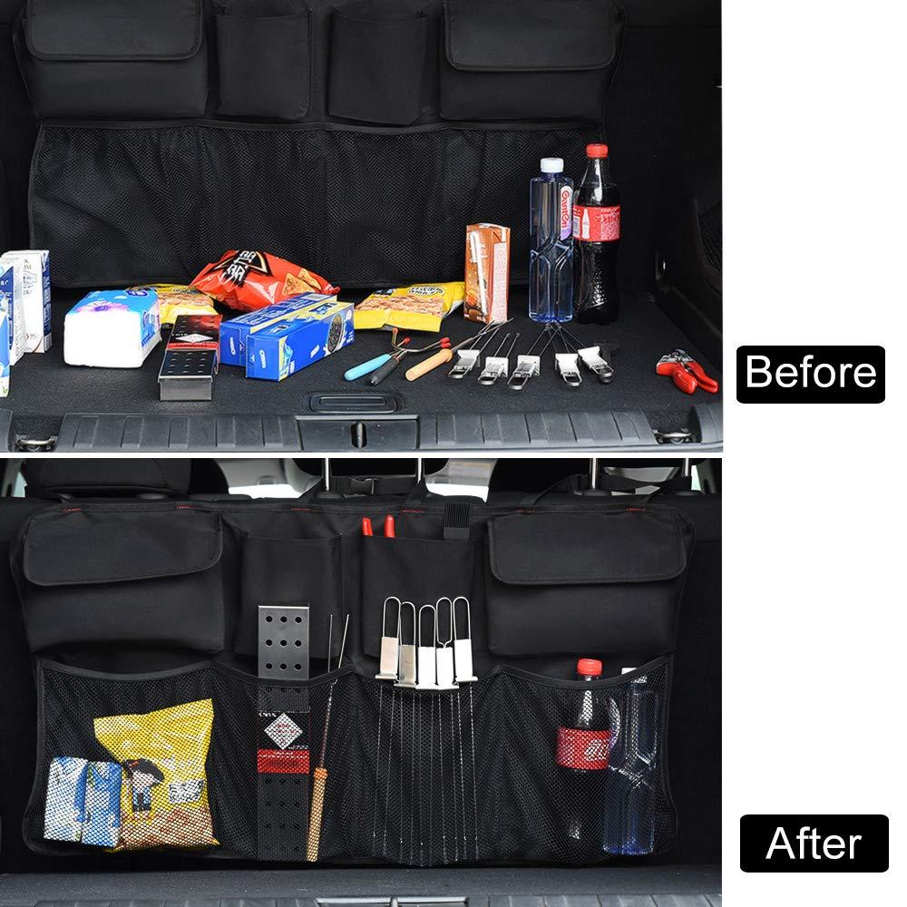 Equipaggiata con Strong Elastic Net e Borsa a 3 bagliori Trunk Bag CMYK Macchina Organizer per Tronco Auto Car Organizer Borsa Car Seat Bag