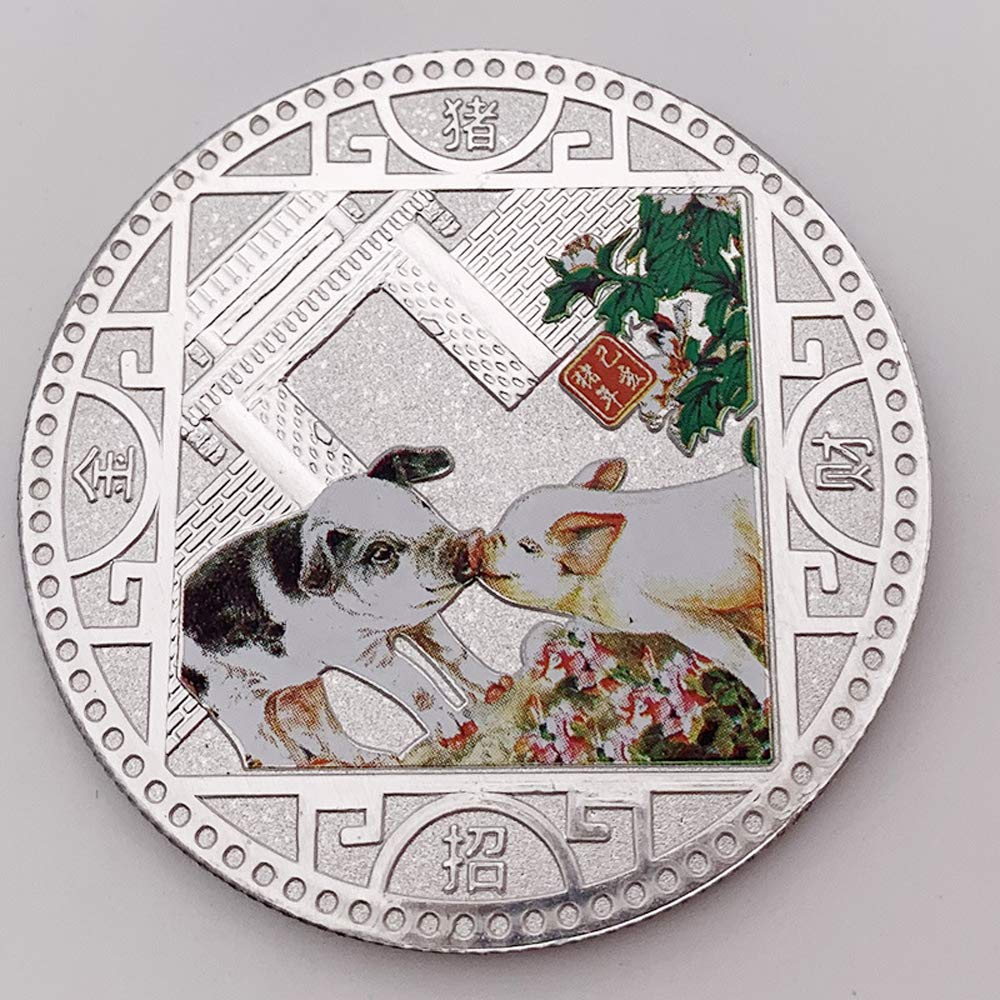 2019 Pig Souvenir Coin Chinese Zodiac Commemorative Coin Gift Lucky Character YL