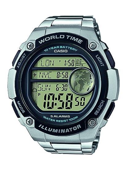 Casio Reloj Digital para Hombre de Cuarzo con Correa en Resina AE-3000WD-1AVEF: Amazon.es: Relojes
