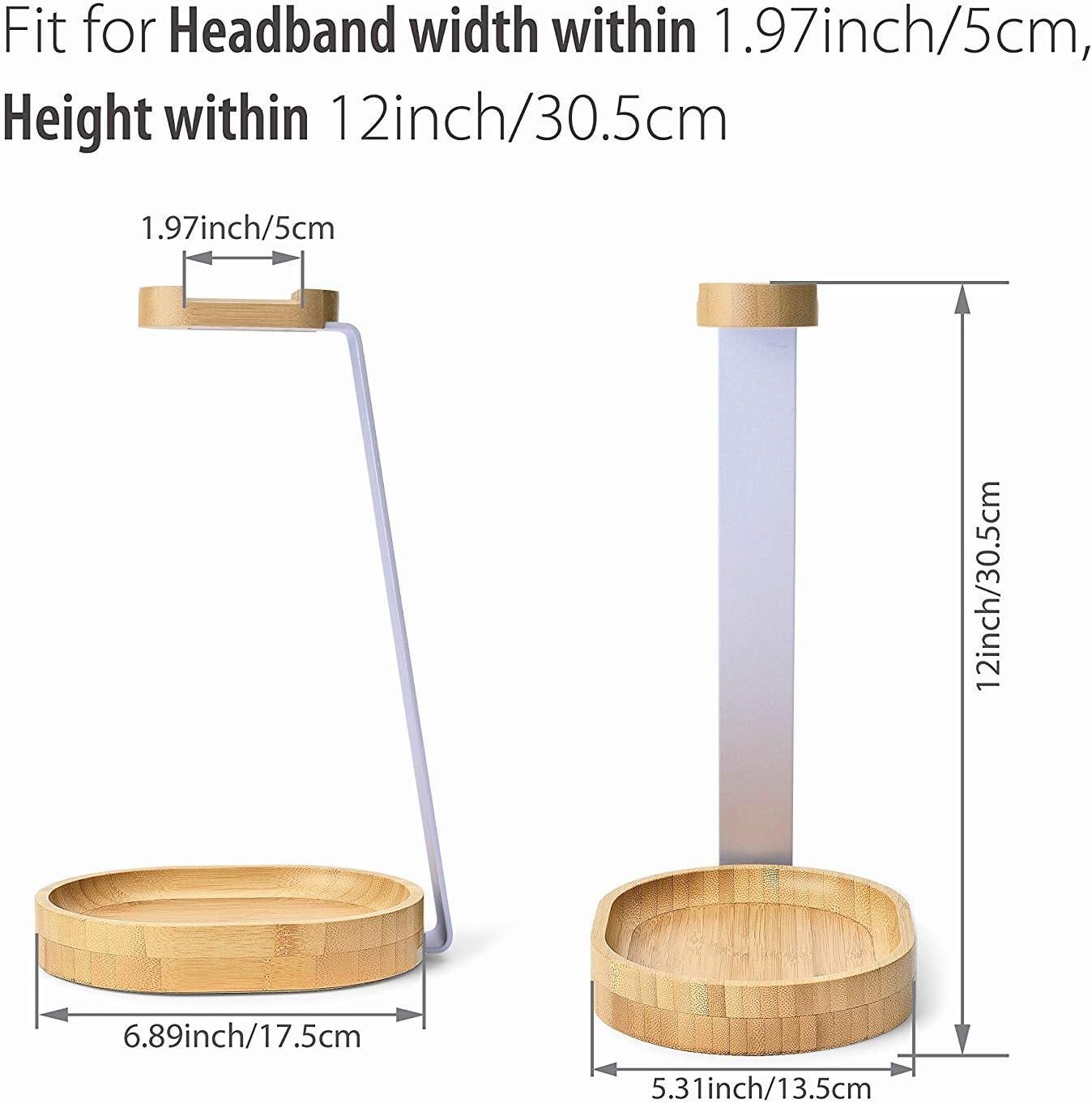 Avantree Universal Wooden /& Aluminum Headphone Stand Hanger with Cable Holder TR902 Bose Jabra Gaming Headphones Display AKG Shure JBL Sturdy Desk Headset Mount Rack for Sony