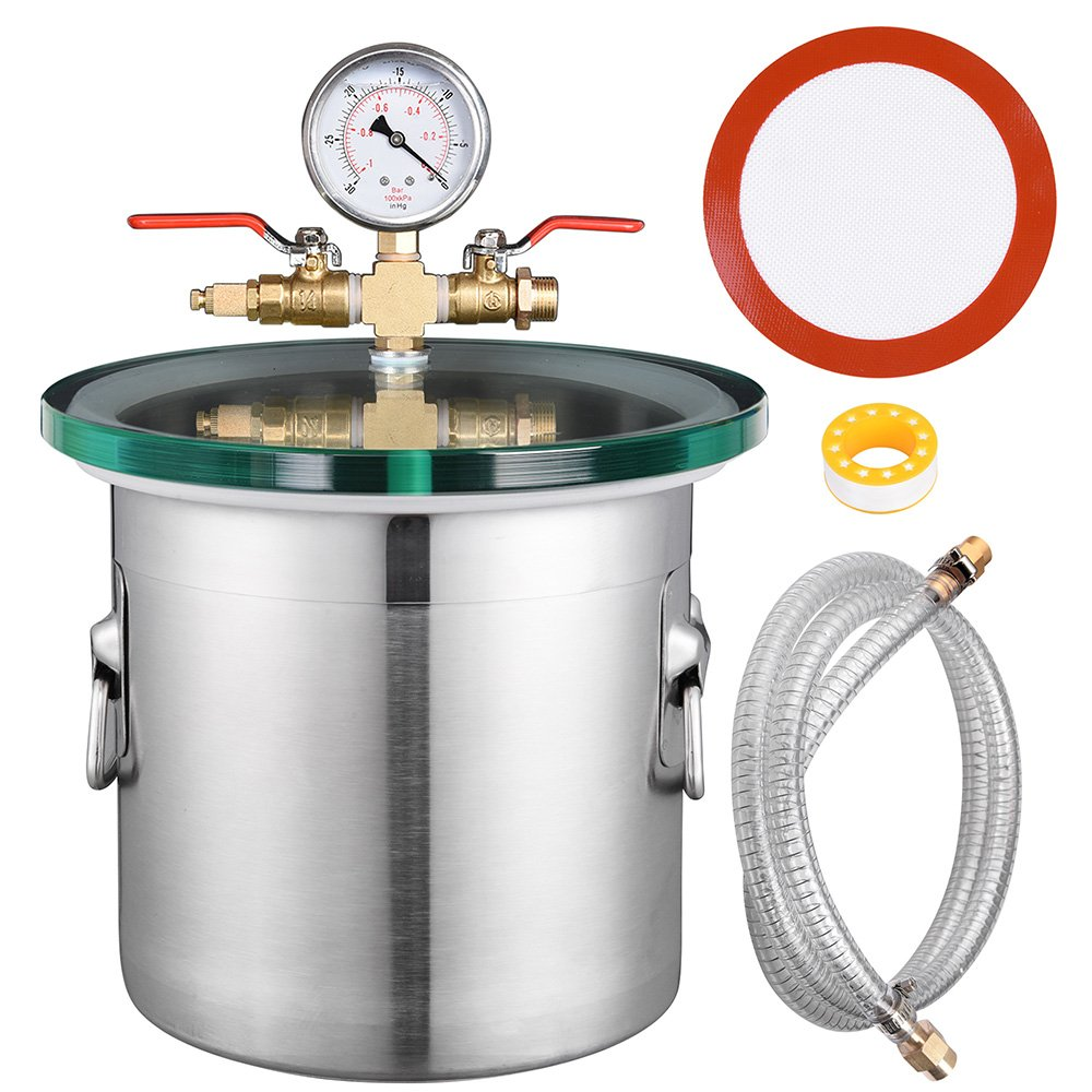 Yescom 2 Gallon Stainless Steel Vacuum Chamber kit to Degass Urethanes Silicones Epoxies by Yescom