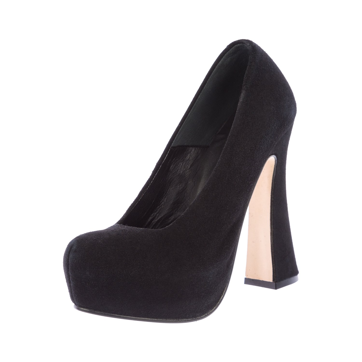 Surface to Air Women's Suede Hydra High V2 Platform Pumps Size 5.5 Black