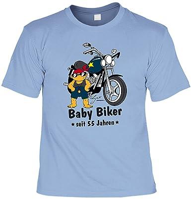 Biker Herren T-Shirt zum 55. Geburtstag lustiges Geburtstagsgeschenk  Motorradfahrer 55 Jahre BABY BIKER seit 55 Jahren Geschenke 55. Geburtstag  Sprüche ...