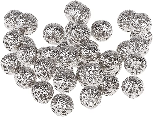 craft*diy 100 Mixte Perles intercalaires Boule Strass 8mm