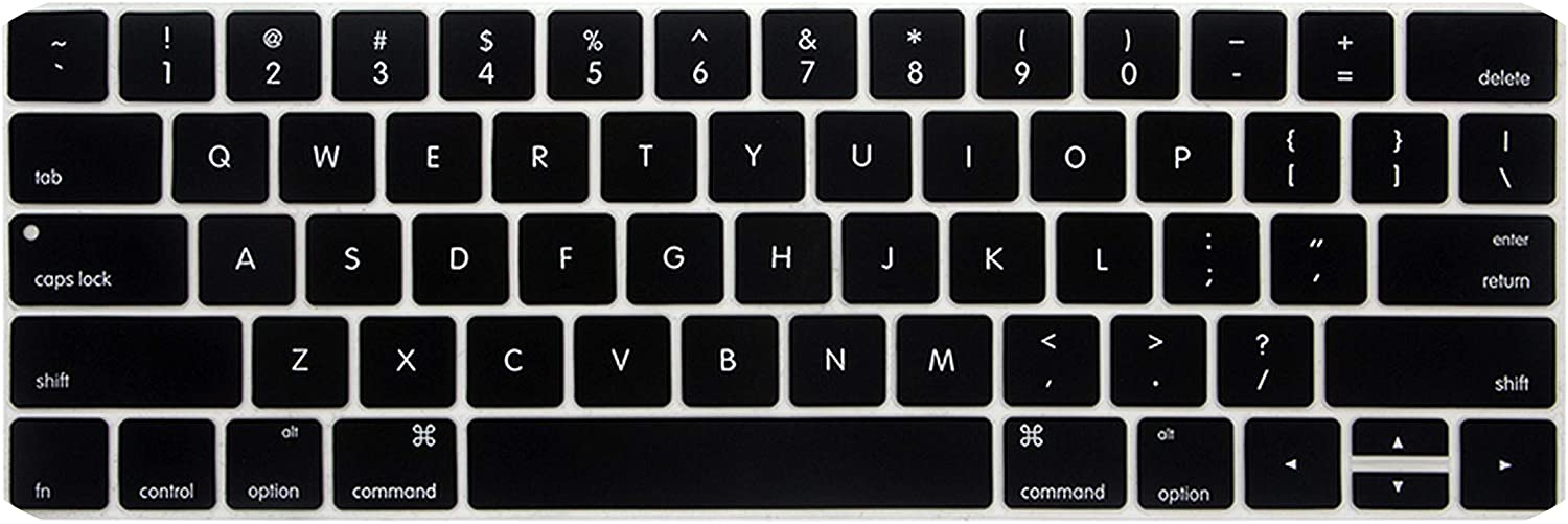 Black Us Keyboard Protector for MacBook Pro 13 with Touch Bar A1706 A1989 A2159 Pro 15 A1707 A1990 Silicone Keyboard Cover