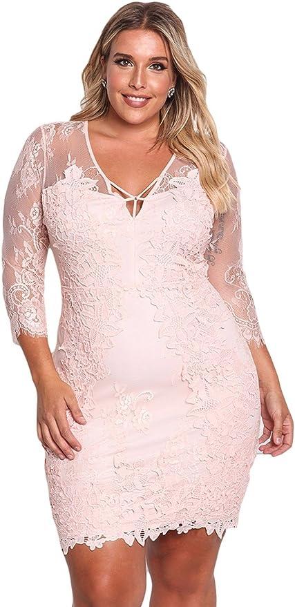 Amazon Com Vestidos Tallas Grandes Plus Ropa De Moda Para Mujer Sexys Casuales Largos De Fiesta Y Noche Elegantes Negros Rojos Ve0079 Moderno Equipada L Beige Clothing