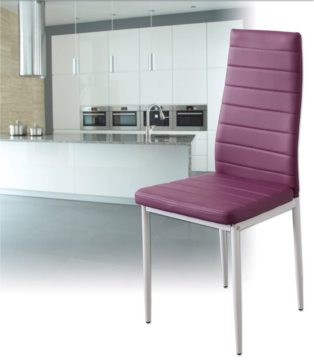 SGS tested set of 6 violett Albatros 2708 MILANO dining chairs