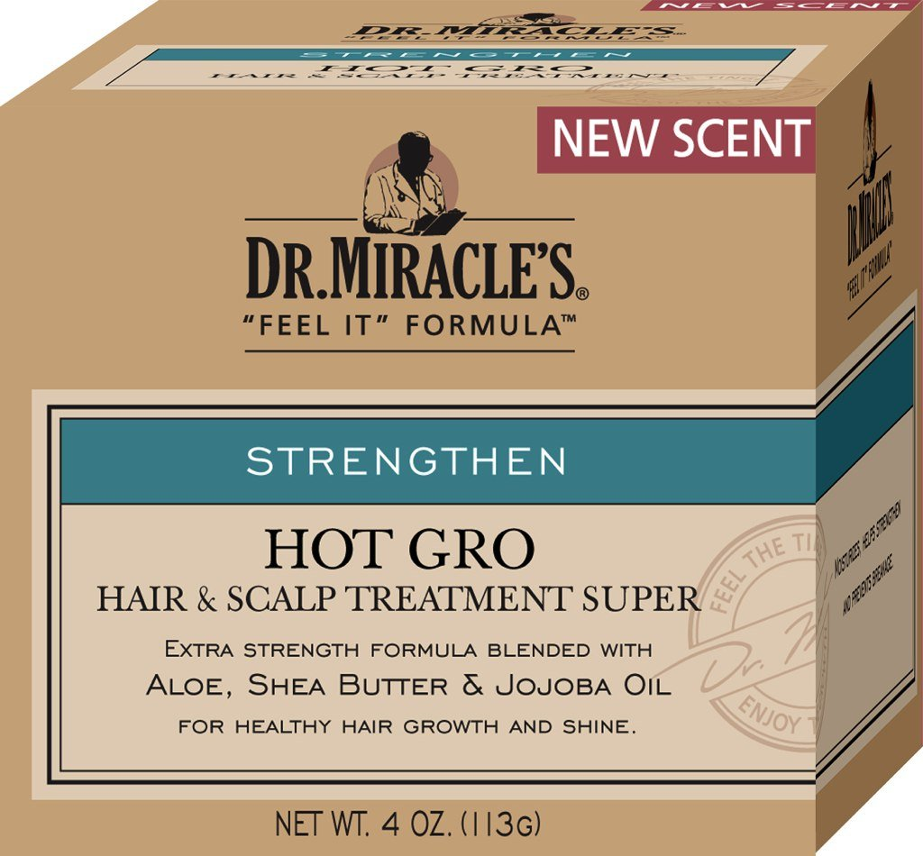 Dr. Miracle's Feel It Formula Hot Gro, Hair & Scalp Treatment Conditioner, Super Strength, 4 oz. Dr. Miracle's 000163