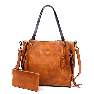 Old Trend Leather Tote Daisy Tote Handbag (Chestnut)  Handbags ... 66333f7a418fd