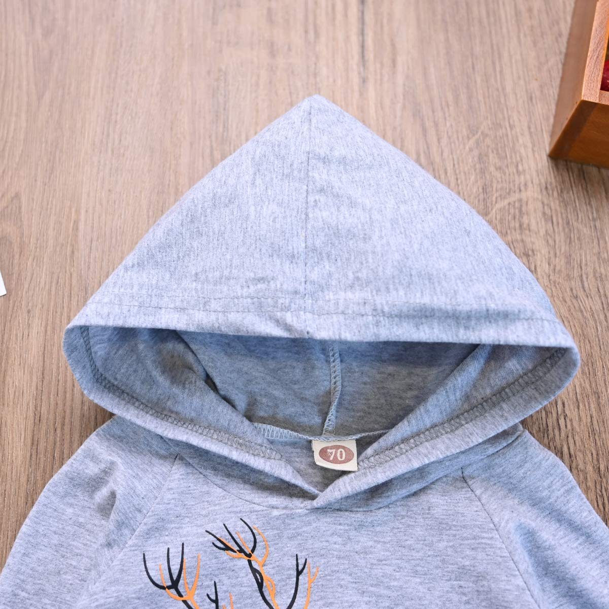 BEDHRT Baby Boy Girl Clothes Long Sleeve Xmas Hoodies Sweatshirt Top Deer Pants Trouser Cute Outfit Tracksuits Sets