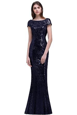 d94482a1f583 MisShow Robe de Demoiselle d honneur Elégante Longue pour Soirée Moulante  Sirène Dos Nu avec