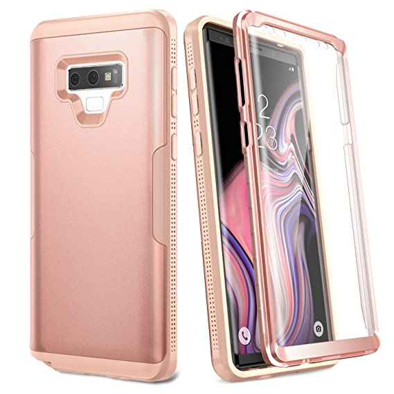 uk availability 408d7 6f6e0 YOUMAKER Case for Galaxy Note 9, Full Body Heavy Duty Protection with  Built-in Screen Protector Shockproof Rugged Cover for Samsung Galaxy Note 9  ...