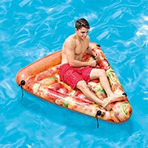 Intex Pizza Slice Inflatable Mat with Realistic Printing, 69in X 57in