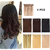 "14"" Clip in Hair Extensions Remy Human Hair for Women - Silky Straight Human Hair Clip in Extensions 50grams 4pieces #18…"