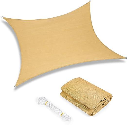 Toldo Vela de Sombra Rectangular Toldos IKEA Prevención Rayos UV Solar protección para Jardin Terraza Patio Gris - Beige 3.5x4.5m: Amazon.es: Jardín