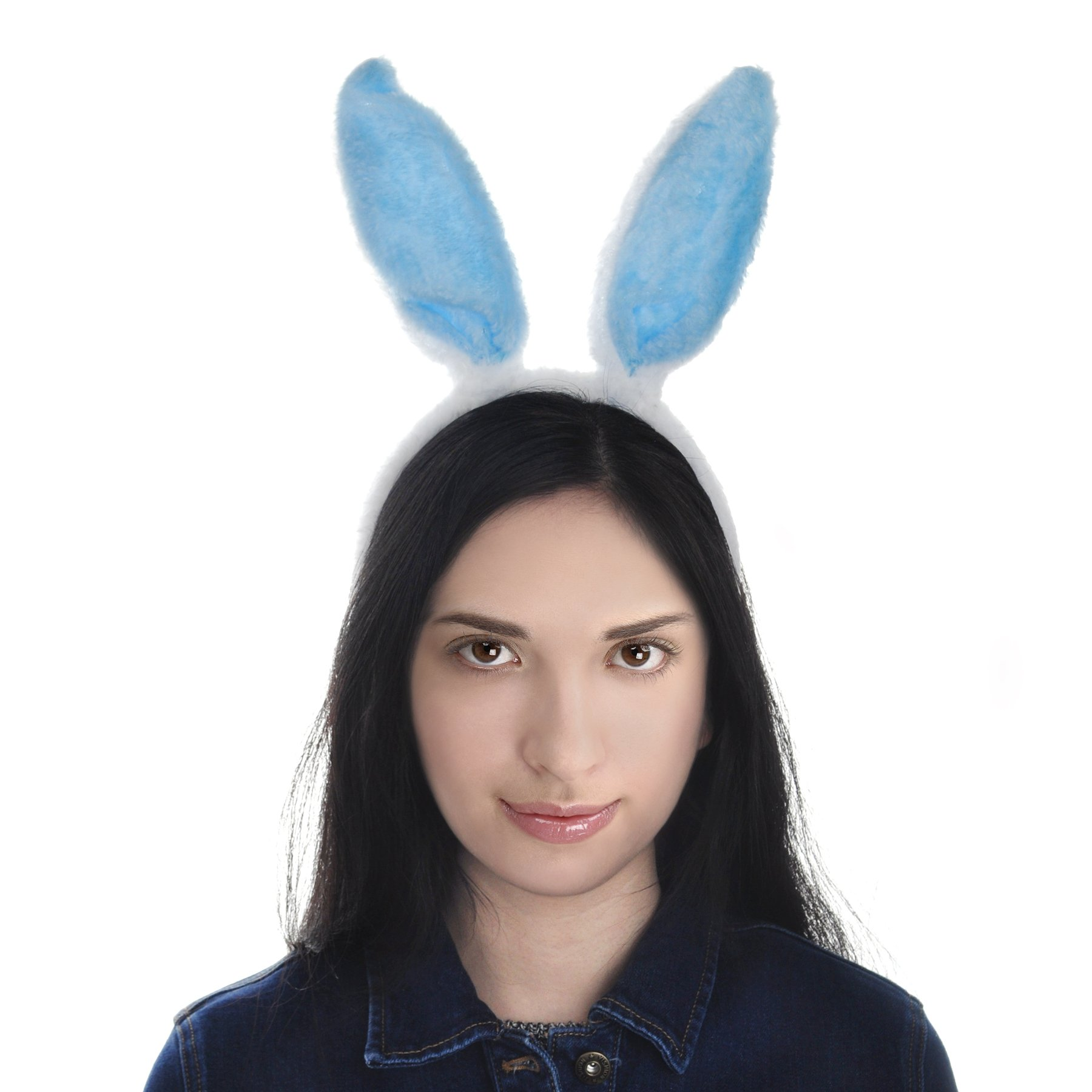 Toptie Easter Bunny Ears Headband, Soft Touch Plush Cosplay Party Suppliers-White-1pc by TOPTIE (Image #7)