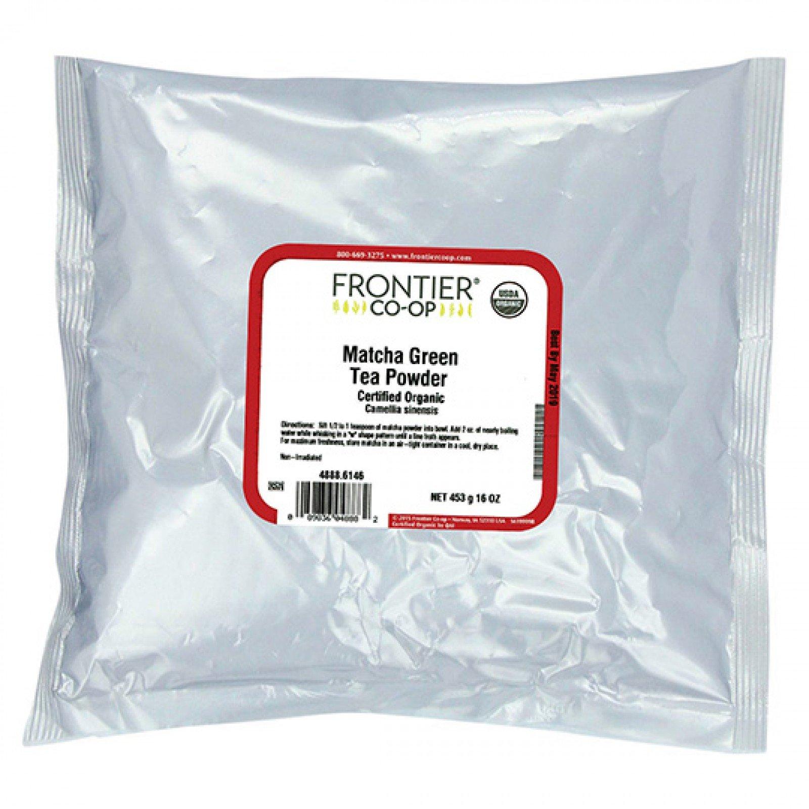 Frontier Bulk Matcha Green Tea Powder, ORGANIC, 1 lb. package