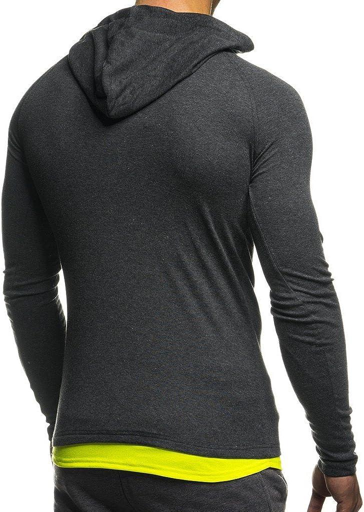 Leif Nelson Gym pour des Hommes Fitness Sweatshirt avec Capuche Hoodie Manche Longue Chemise dentra/înement T-Shirt Training LN06278