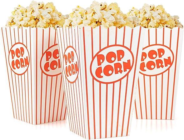 Tebery 48 Pcs Cine pequeñas cajas de palomitas de maíz – Papel ...