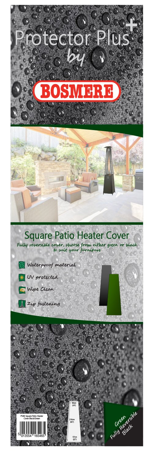 Bosmere THUNDER GREY Square Patio Heater Cover - Grey BOSMERE PRODUCTS LIMITED