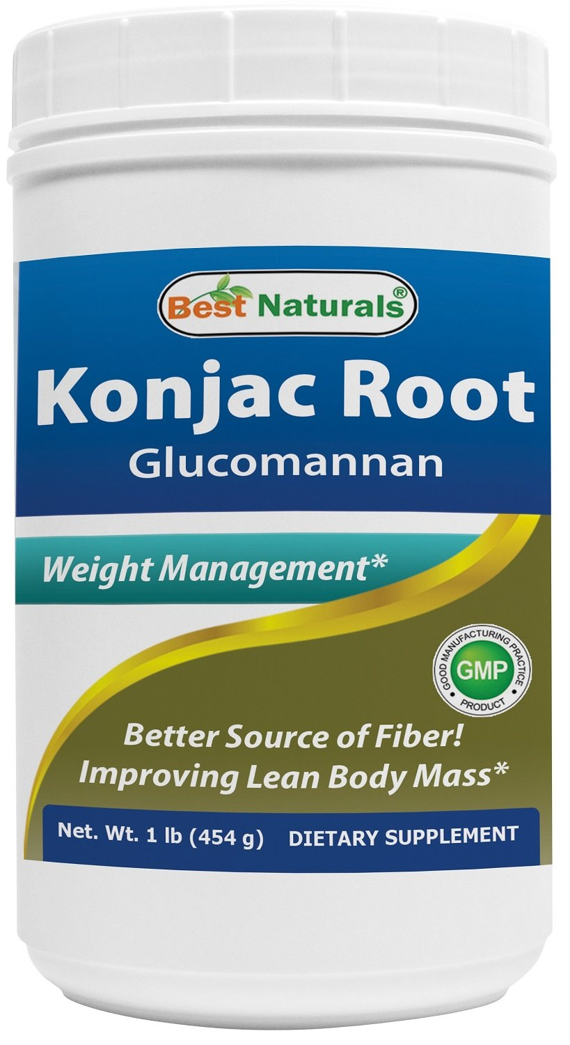 Best Naturals Konjac Root Glucomannan Powder (Non-GMO) - Promotes Healthy Metabolism & Weight Management - 1 Pound by Best Naturals