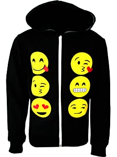 8347a03615 Kids Emoji Emoticons Smiley Faces Long Sleeve Hoodies Tops Girls Age New  5-13 Years