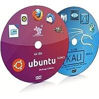 Ubuntu 16.04.5 Unity and Kali Linux 2018.3a GNOME 64 Bit Live Bootable DVD