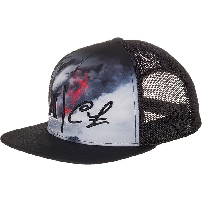 quality design 13ea7 65376 Hurley Clark Little Lava Trucker Hat Black, One Size