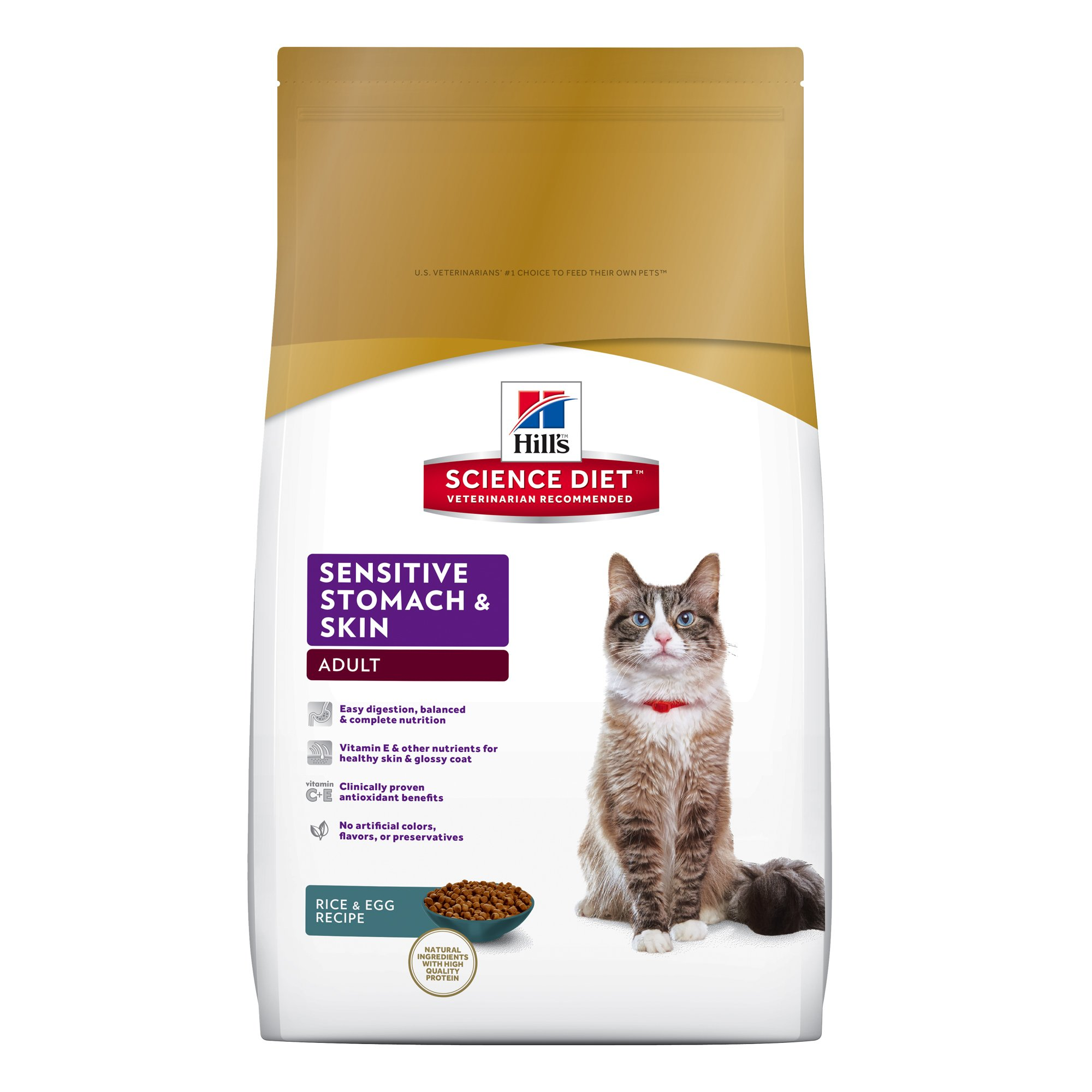 Hill's Science Diet Sensitive Stomach and Skin Dry Cat Food 15.5-Pound