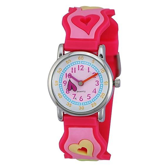 Reloj - Zeiger - Relojes Para Niñas - KW005 Reloj para Jóvenes Niños Pequeños Niñas Cute Reloj de pulsera para ninas, Cartoon Character 3D Watchband: ...