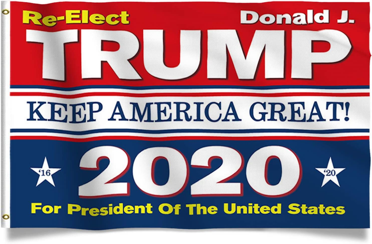Kaiyuan Dynasty Trump Flag Colorful Donald Trump Flags Support for President 2020 Banner - Keep America Great 3 x 5 feet with Two Brass Grommets