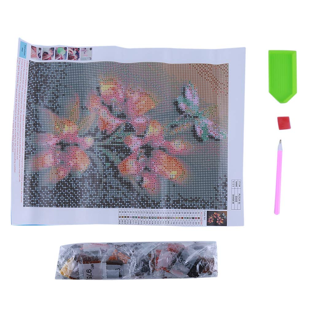 Yevison Premium Quality DIY Diamond Painting Flowers Floral Lily Diamond Painting Embroidery Cross Stitch Ornaments Arts Craft Home Wall Decor,2