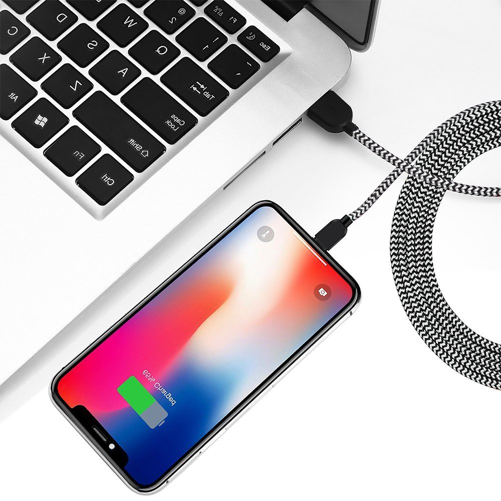 Lightning Cable iPhone Charger Mfi Certified 5Pack 3//6//10 Ft Extra Long Nylon Braided USB Charging /& Syncing Cord Compatible with iPhone XS//Max//XR//X//8//8Plus//7//7Plus//6S//Plus//SE//Ipad