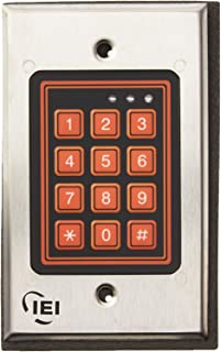 Amazon.com : IEI 212i Indoor Flush-mount Keypad : Access ... on dsc keypad wiring, iei keypads 212i manual, iei security keypads for doors, linear keypad wiring, alarm lock keypad wiring,