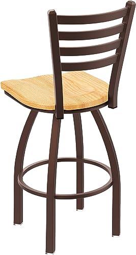 Holland Bar Stool Co. 41025BZNatOak 410 Jackie Swivel Counter Stool, 25 Seat Height, Natural Oak