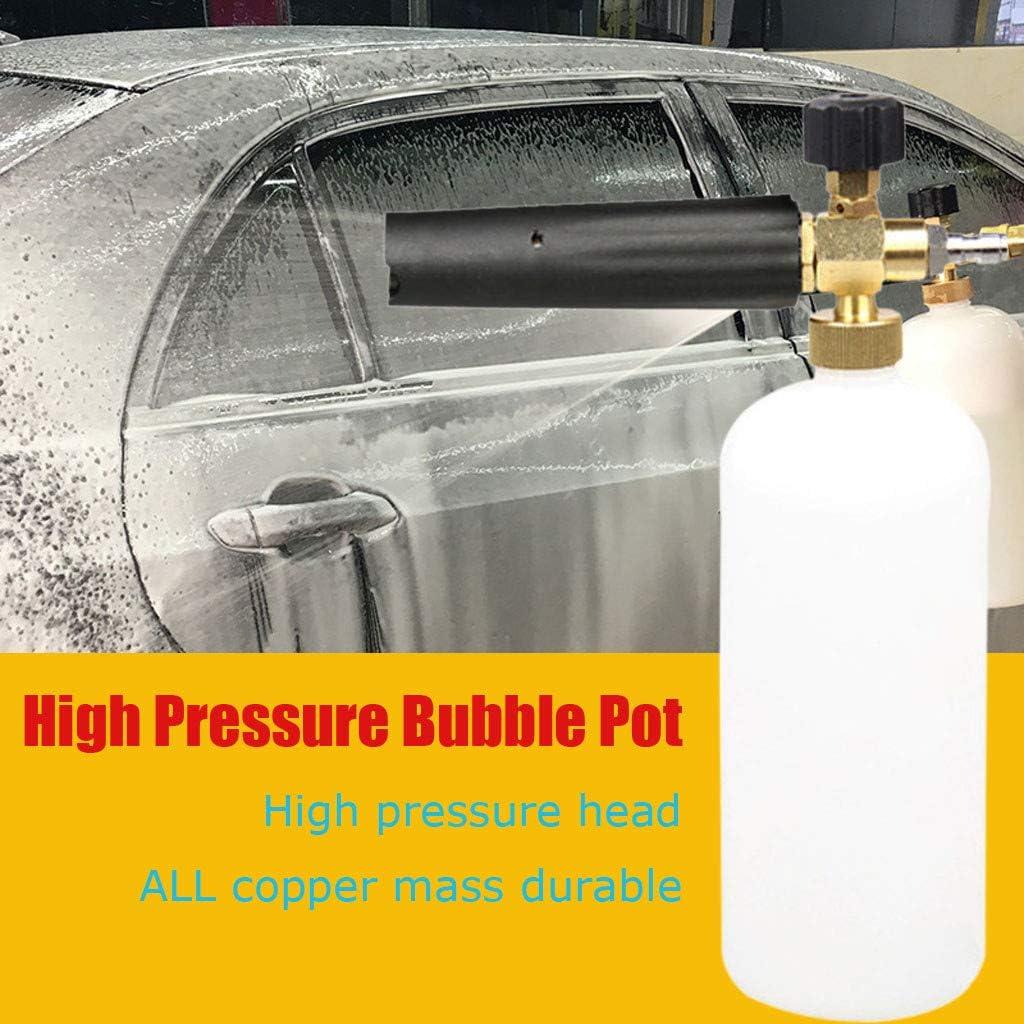 "1//4/"" Snow Foam Washer Gun Car Wash Soap Lance Cannon Spray Pressure Jet Bottle"